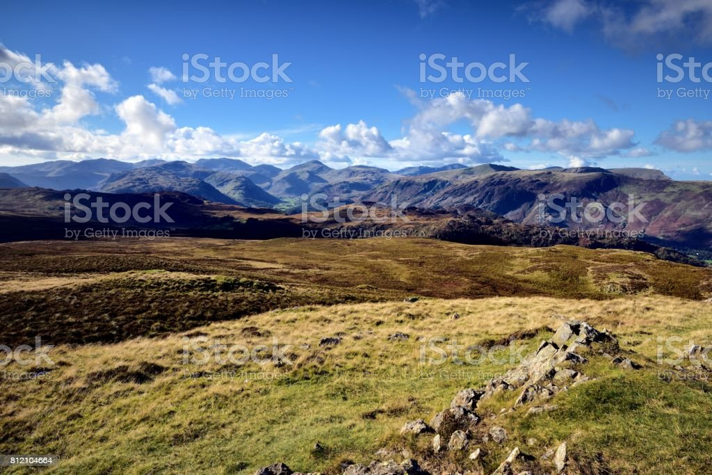 Cairn on High Seat stock photo