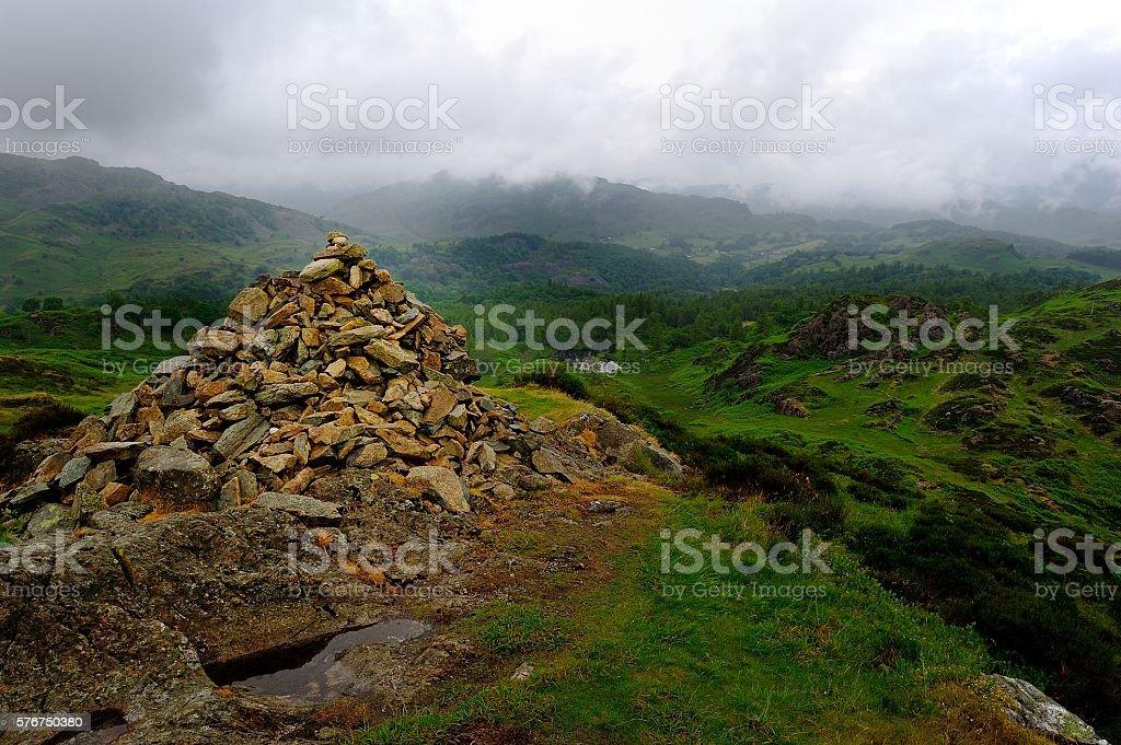 Cairn on Holme Fell stock photo