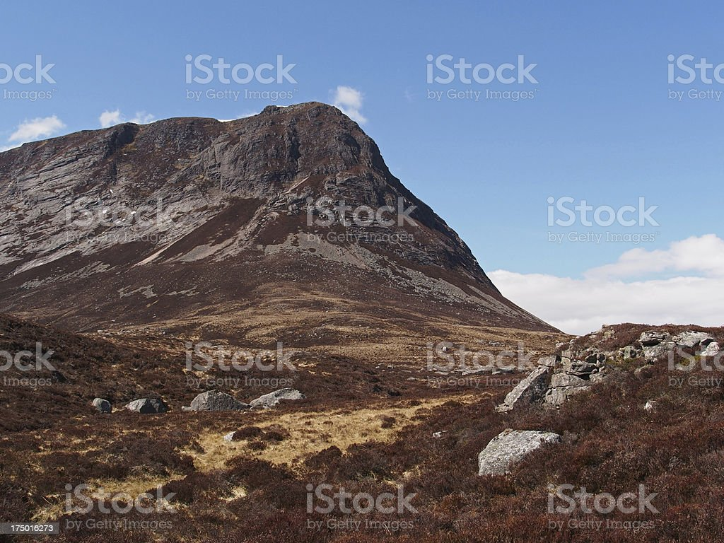 Cairngorms mountains, Devil's point, Scotland in spring stock photo
