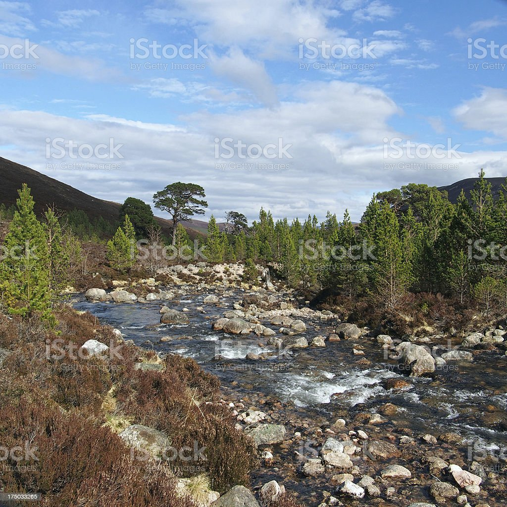 Cairngorms mountains, Gleann Laoigh Bheag, Scotland in spring royalty-free stock photo