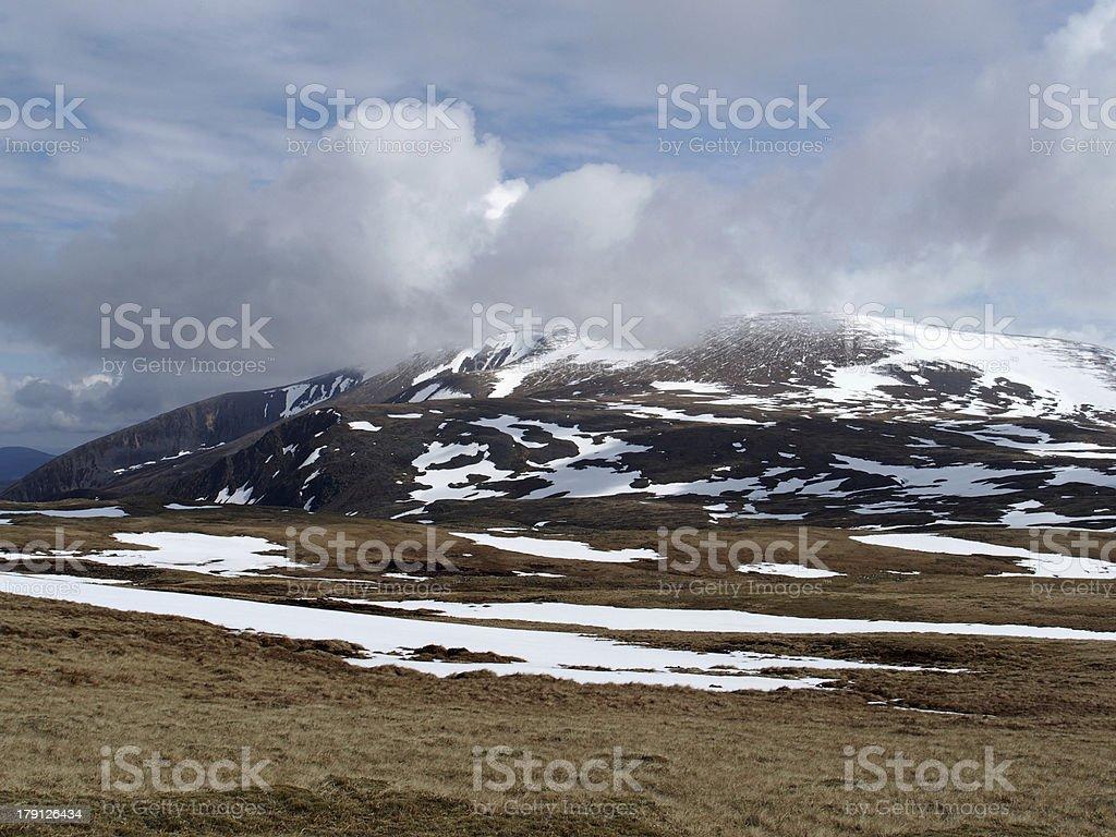 Cairngorms mountains, Scotland in spring stock photo