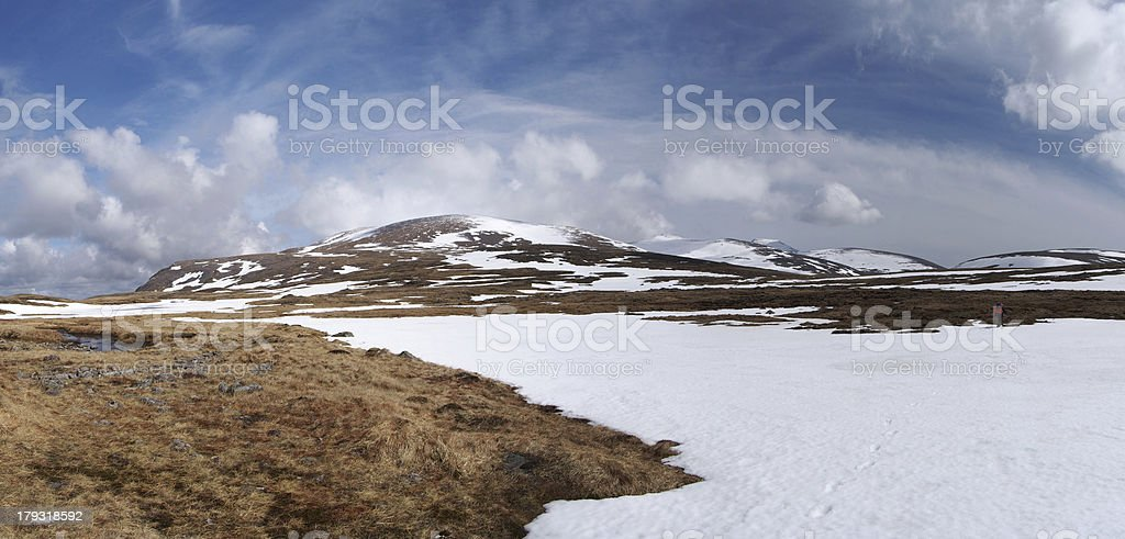 Cairngorms plateau south of Breariach, Scotland in spring stock photo