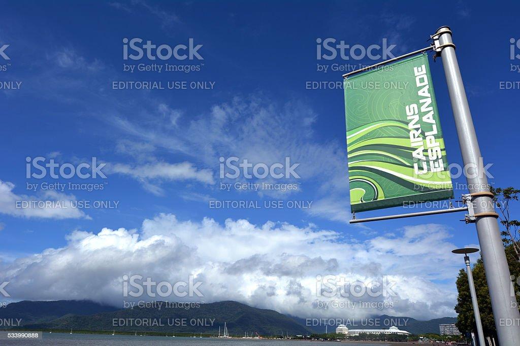 Cairns Esplanade in Queensland Australia stock photo