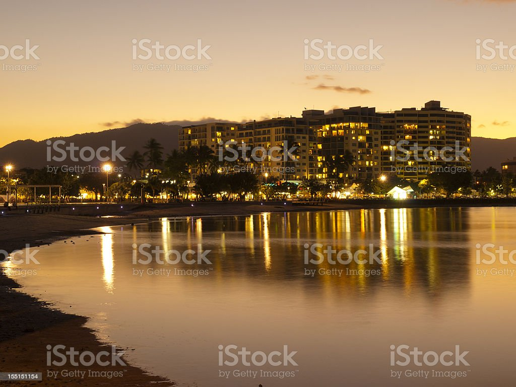Cairns Waterfront by Night stock photo