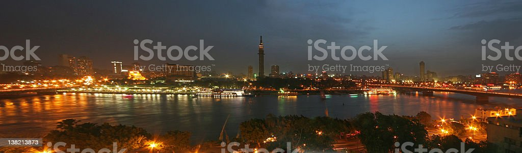 Cairo at Night royalty-free stock photo
