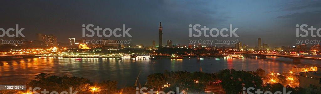 Cairo at Night stock photo