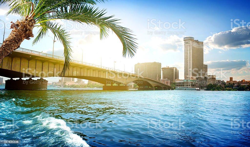 Cairo bridge stock photo
