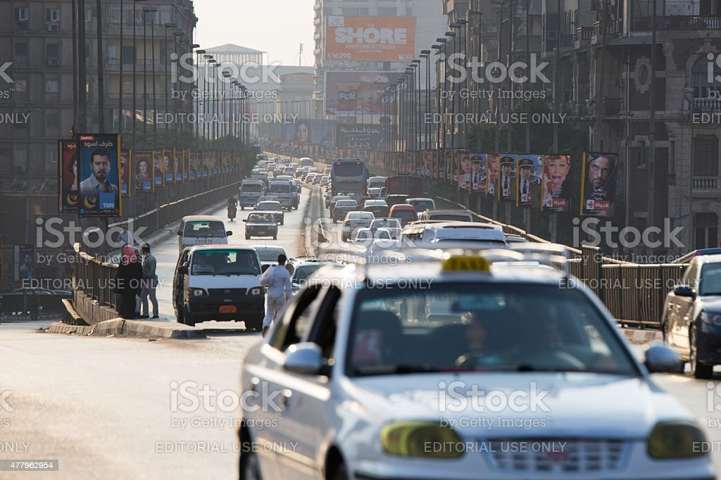 Cairo crowded streets stock photo