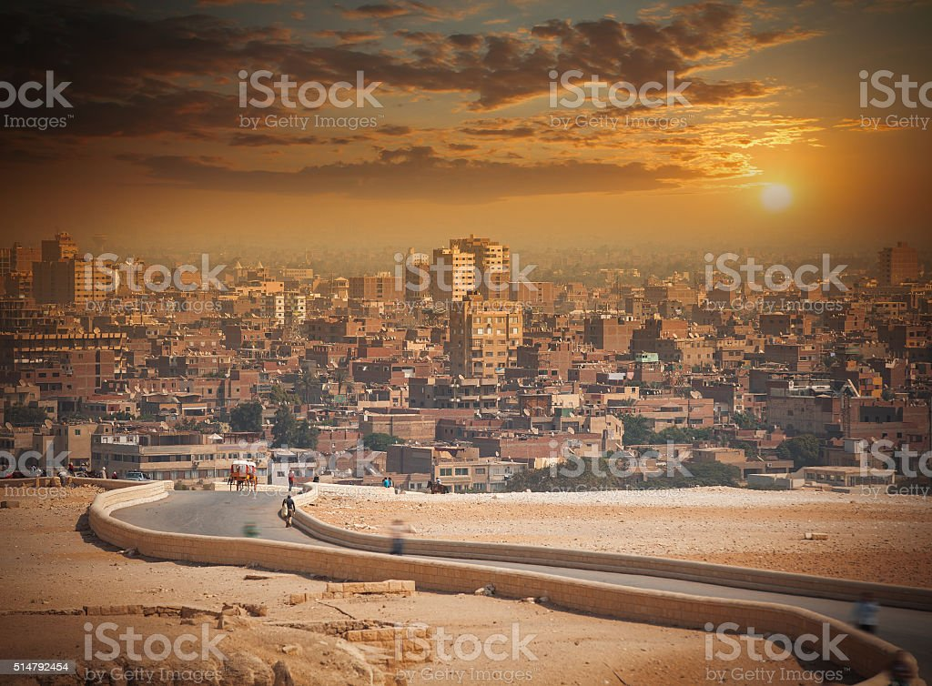 Cairo, Egypt. Largest city in Africa. stock photo