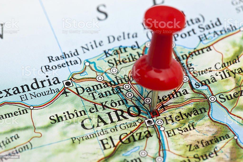 'Cairo Map, Egypt' stock photo