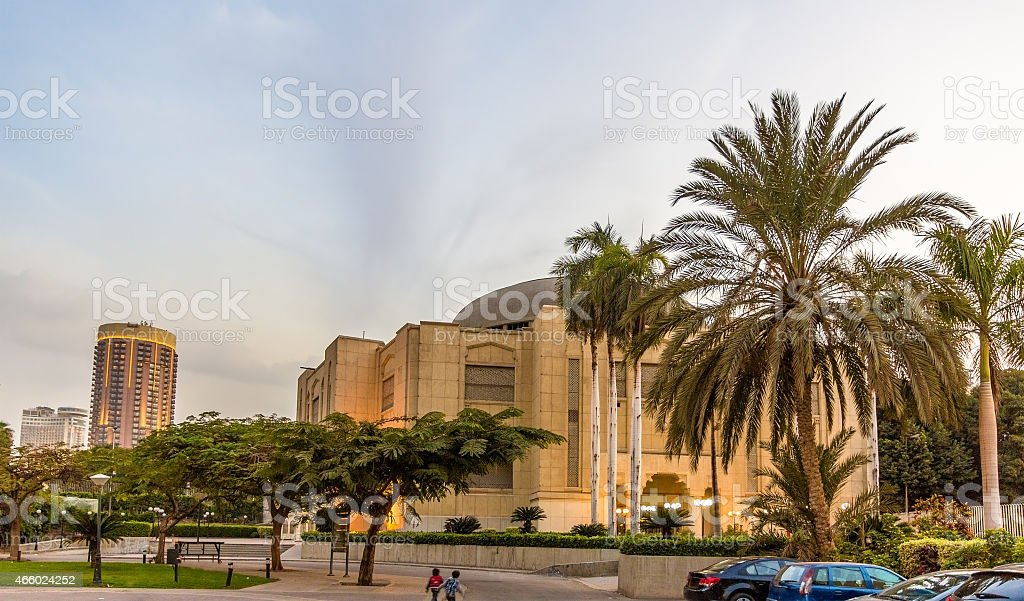 Cairo Opera House in the evening - Egypt stock photo