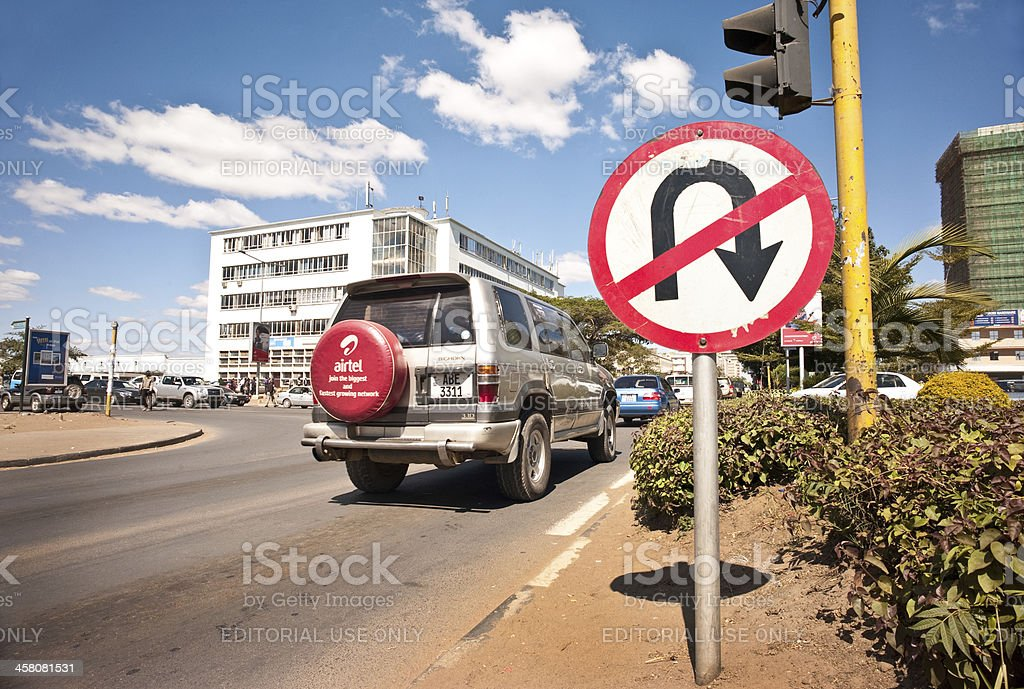 Cairo Road, Lusaka stock photo