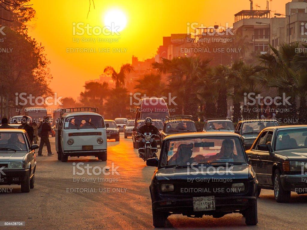 Cairo sunset stock photo