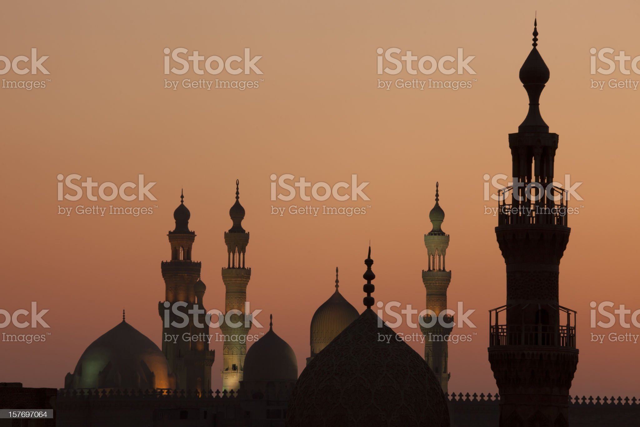 Cairo sunset with towers royalty-free stock photo