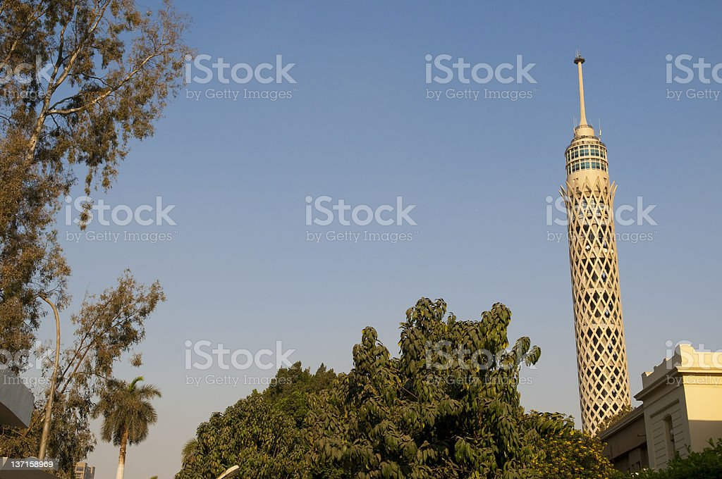 Cairo Tower, the tallest building in Cairo, Egypt stock photo