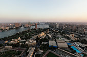 Cairo view from the tower with Nile