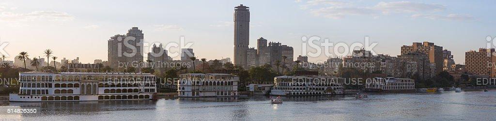 Cairo's Zamalek panoramic stock photo