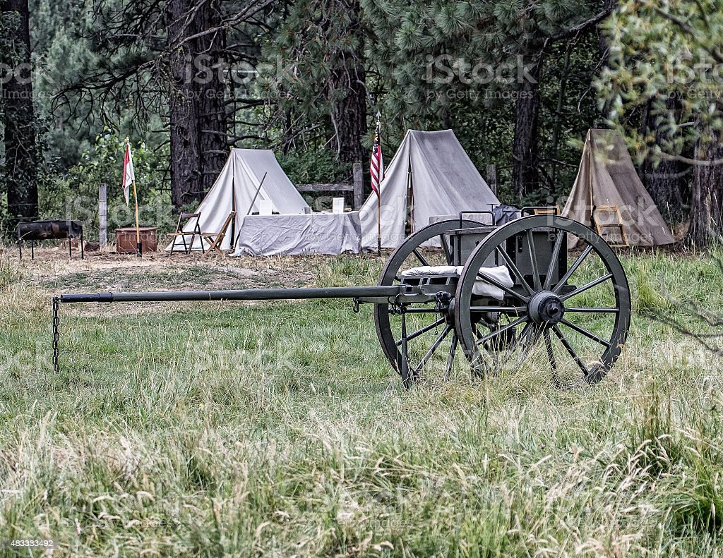 Caisson in Camp stock photo