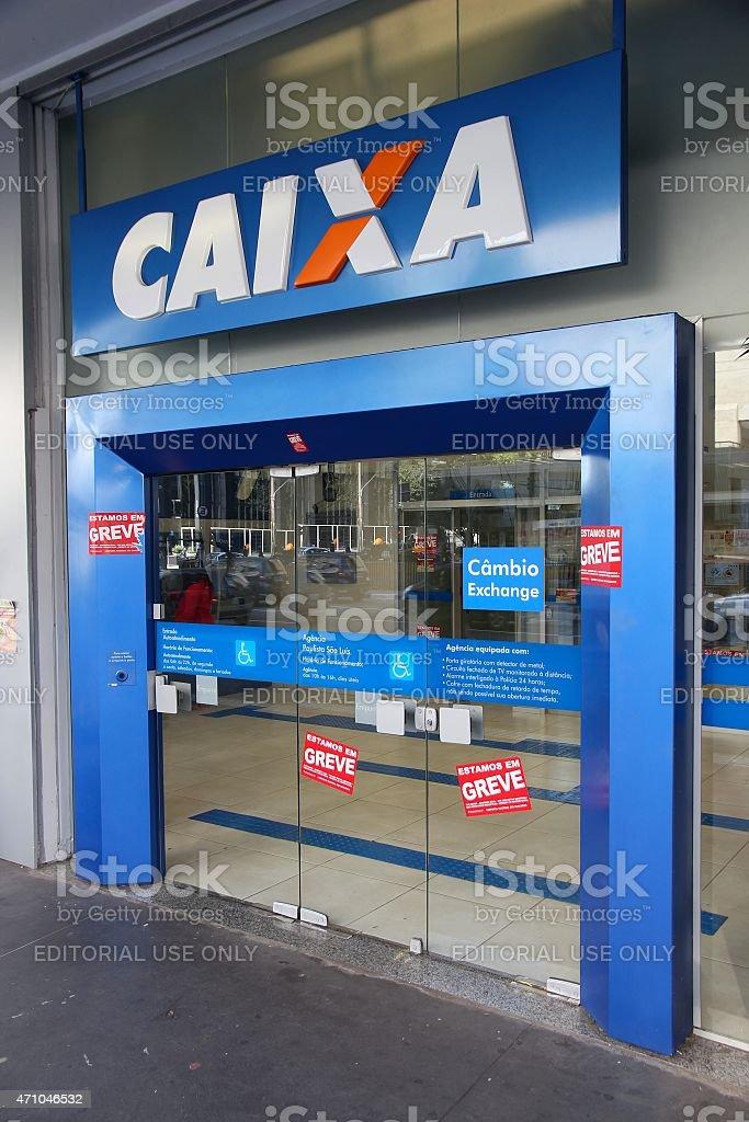 Caixa Bank, Brazil stock photo