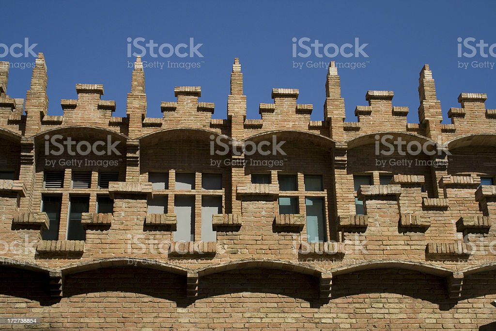 CaixaForum Barcelona - art nouveau brickwork stock photo