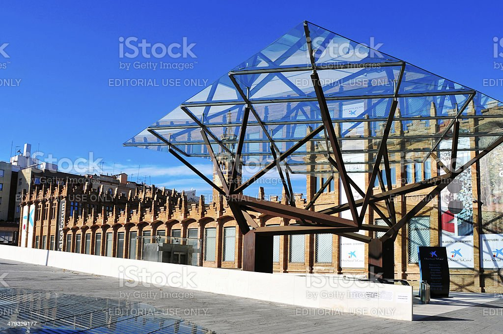 CaixaForum Barcelona, in Barcelona stock photo