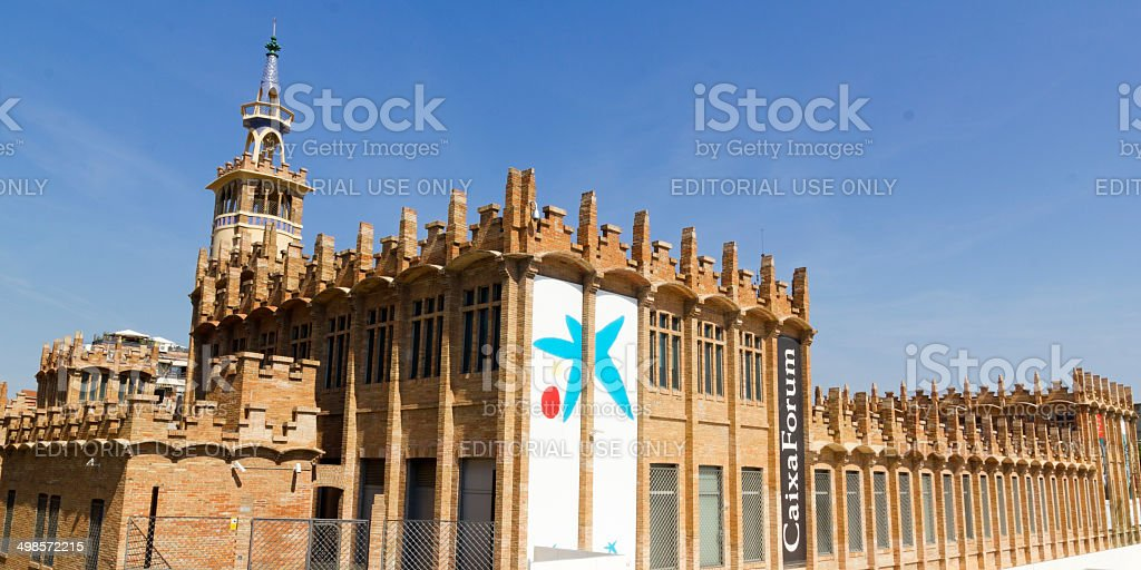 Caixaforum Museum, Barcelona, Spain. stock photo