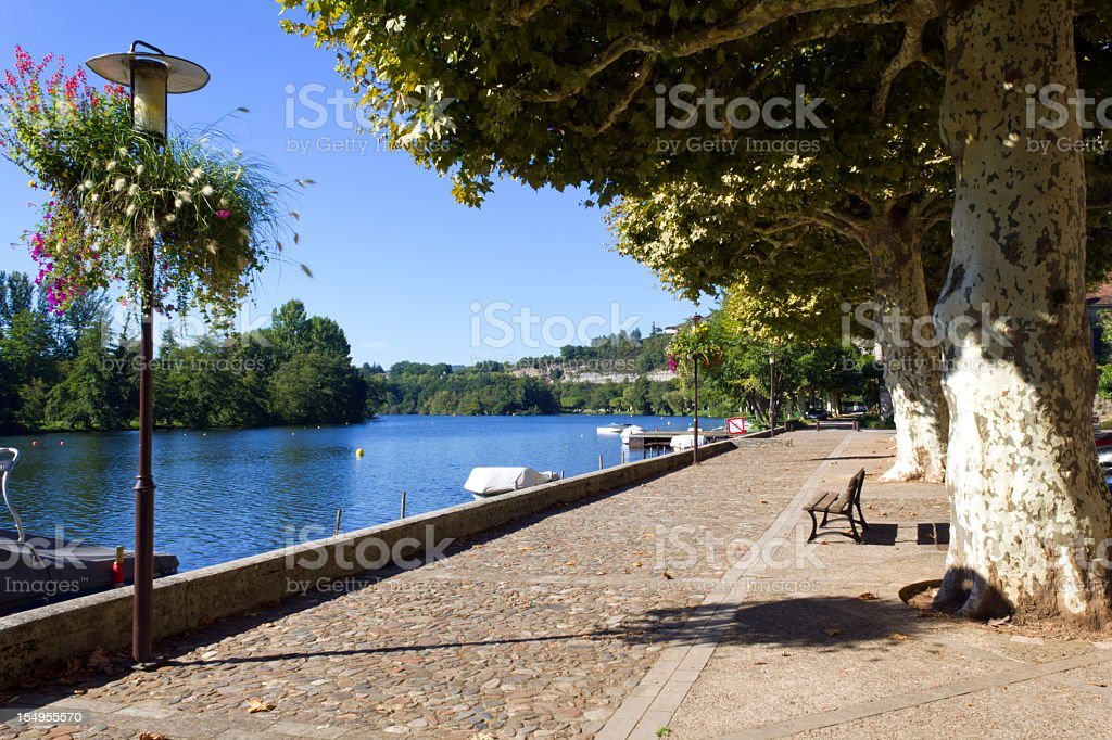 Cajarc in the Lot Valley, Quercy, France, Europe stock photo