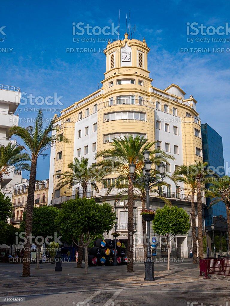 Cajasol Office in Jerez, Spain stock photo