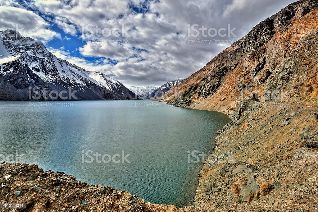 Cajón del Maipo a canyon located in Chile stock photo