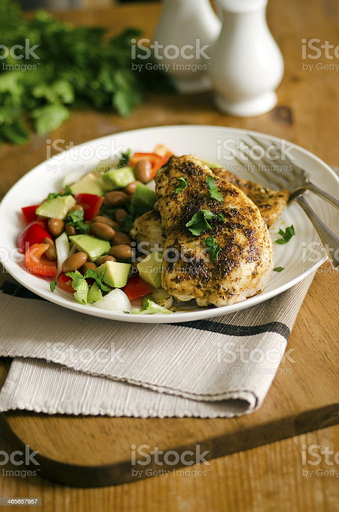 Cajun chicken royalty-free stock photo