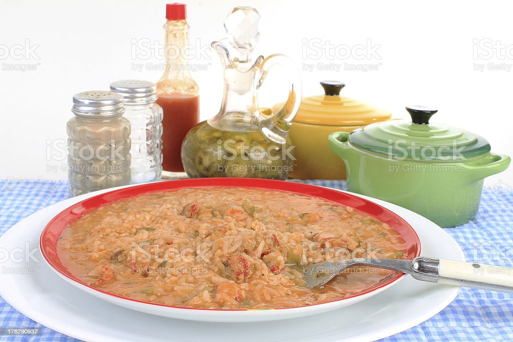 Cajun Food - Crawfish stock photo