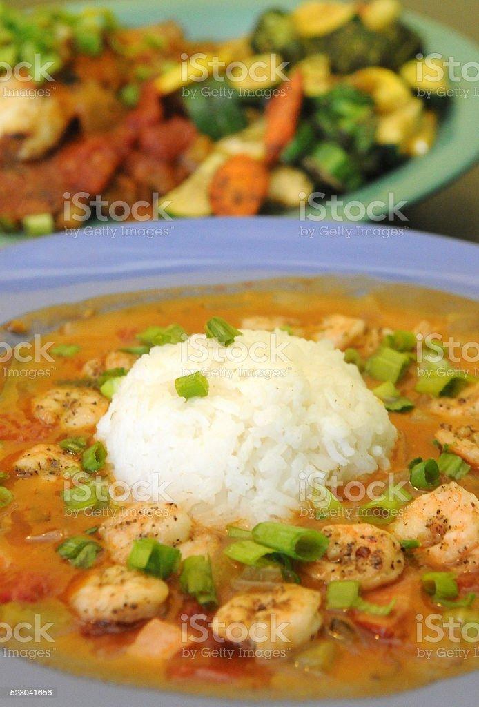 Cajun Meal stock photo