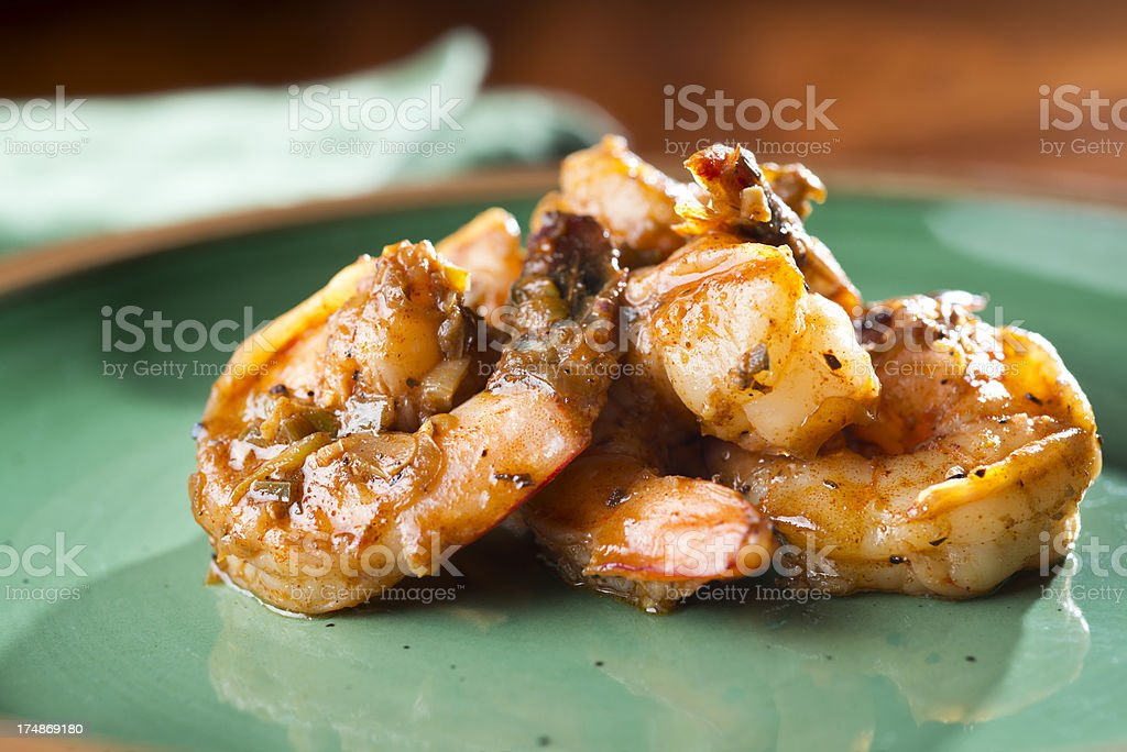 Cajun Shrimp royalty-free stock photo