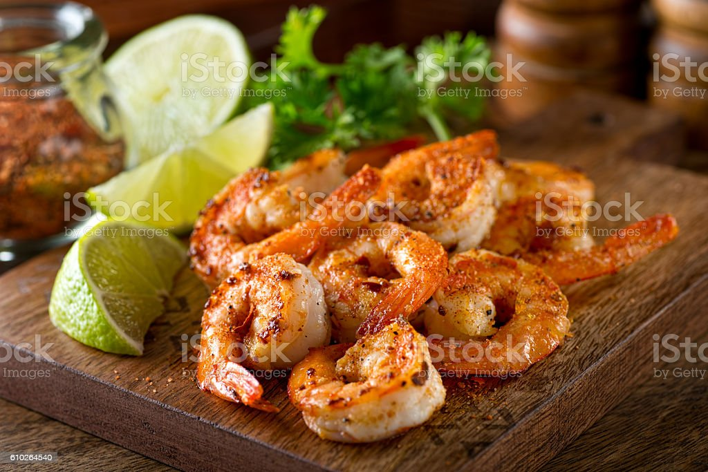 Cajun Shrimp stock photo