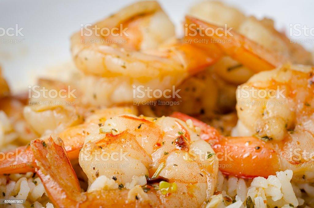 Cajun Shrimp stock photo