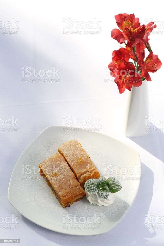 Cake and a vase royalty-free stock photo