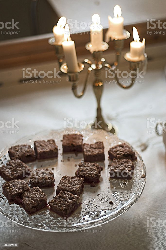 Cake and candles royalty-free stock photo