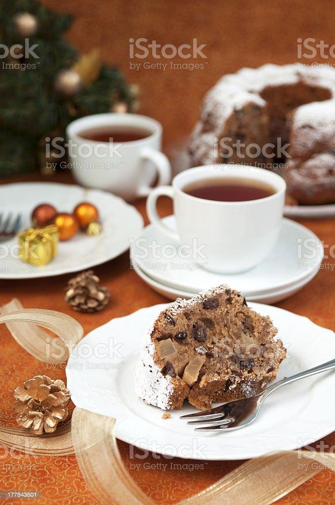 Gâteau et des décorations de Noël photo libre de droits