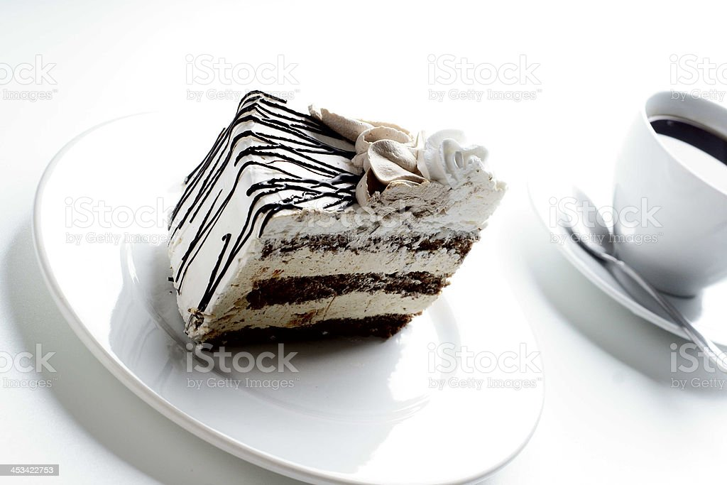 Cake and coffee royalty-free stock photo