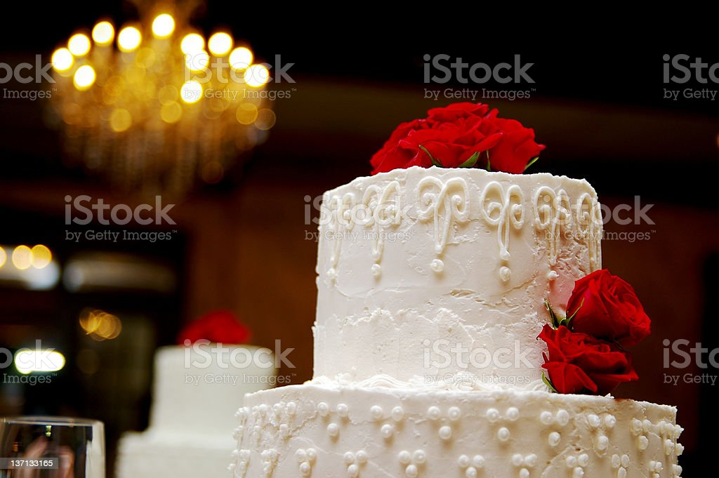 Cake and flowers royalty-free stock photo