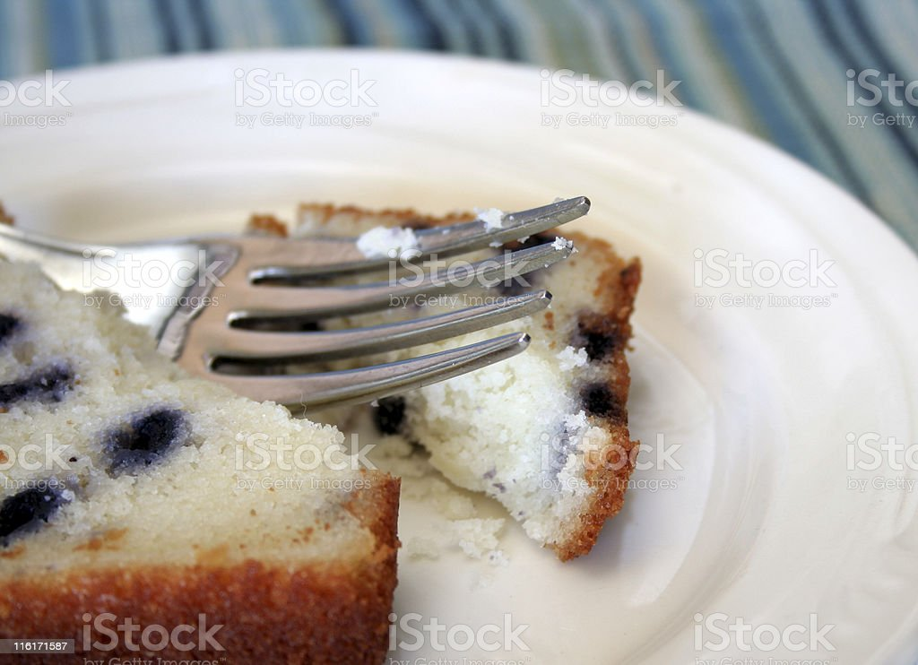 Cake and Fork royalty-free stock photo