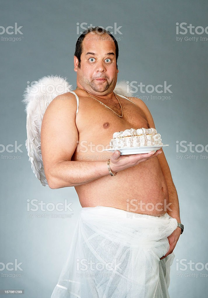 Cake angel stock photo