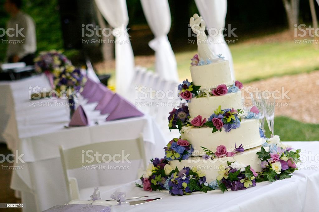 Cake at wedding reception royalty-free stock photo