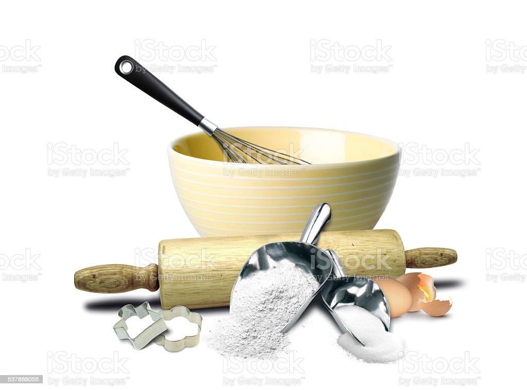 Cake Baking Preparation Tools stock photo