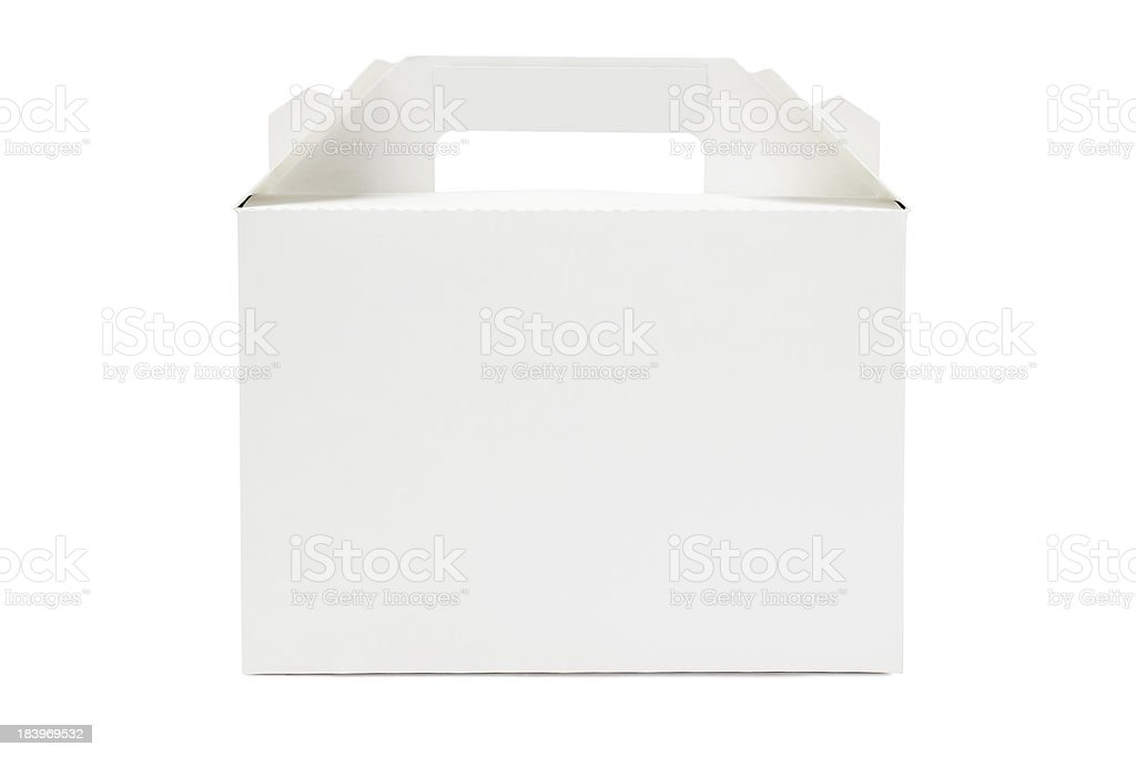 Cake box ready to be delivered stock photo