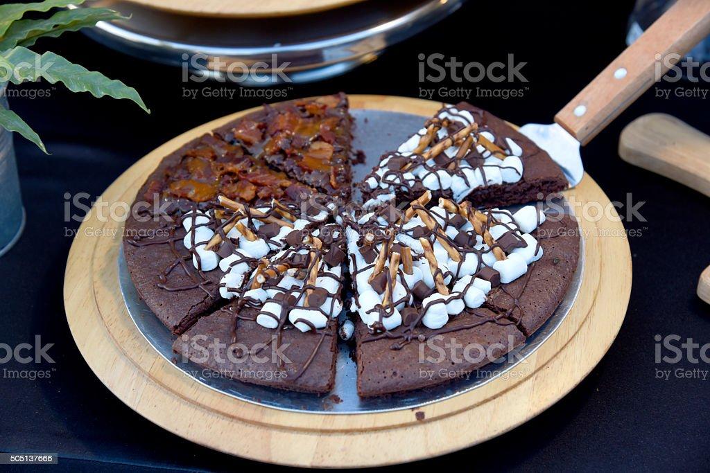 Gâteau au chocolat fondu photo libre de droits