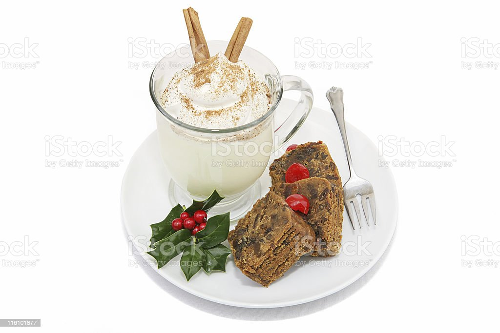 Cake & Eggnog Clipping Path royalty-free stock photo