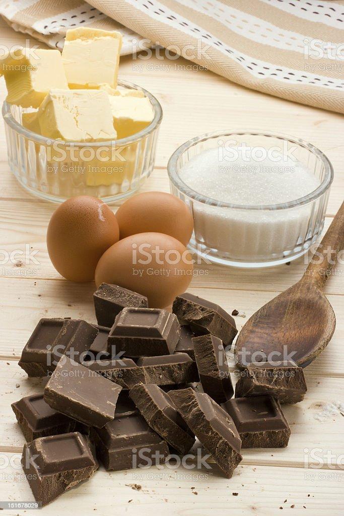 Cake food Ingredients royalty-free stock photo