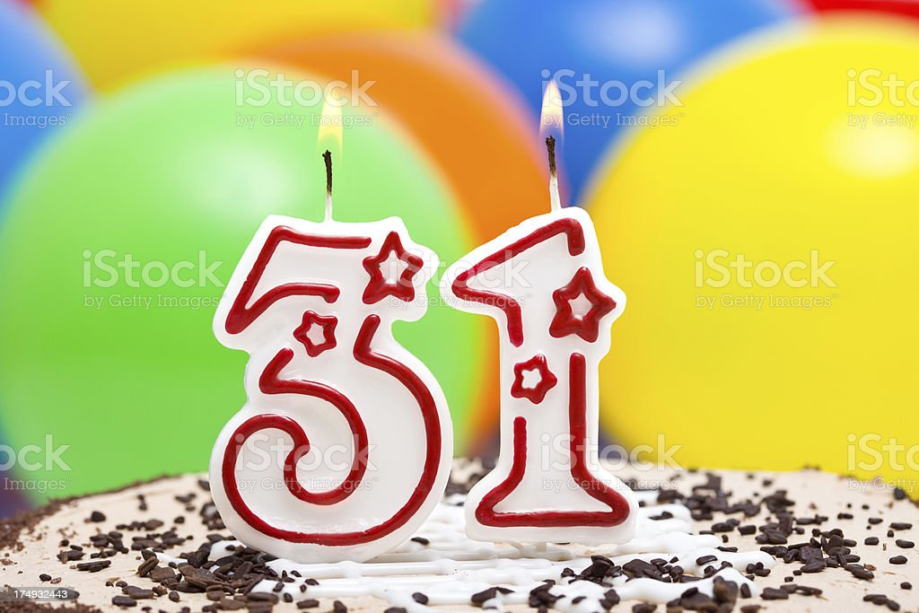 Cake for 31st  birthday. royalty-free stock photo