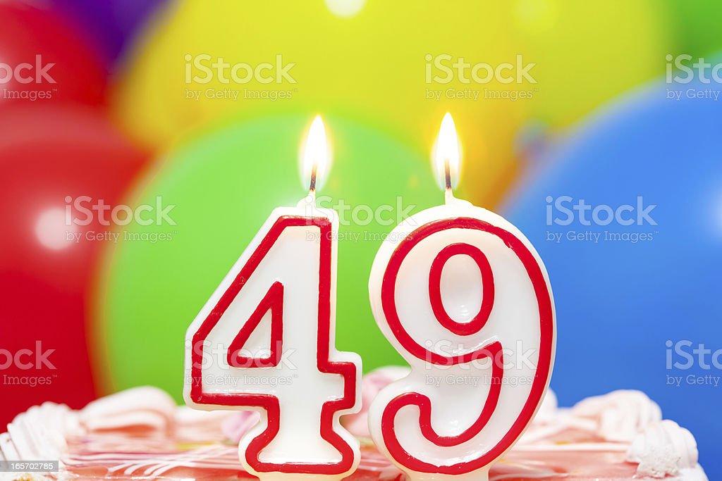 Cake for 49th birthday stock photo